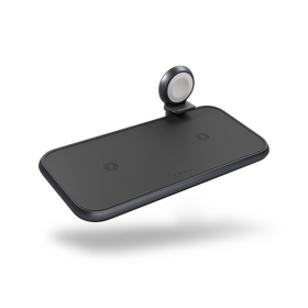 Zens Aluminium 4w1 Ładowarka Bezprzewodowa do Dwóch Urządzeń, USB oraz Apple Watch (Black)