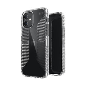 Speck Presidio Perfect-Clear with Grips Etui Ochronne do iPhone 12 Pro / iPhone 12 z Powłoką Microban (Clear)