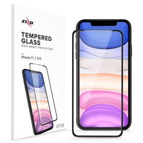 Zizo Full Glue Curved Glass Szkło Hartowane Na Cały Ekran 9H 0,33mm do iPhone 11 / iPhone Xr (Black)