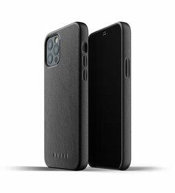 Mujjo Full Leather Case Etui Skórzane do iPhone 12 Pro / iPhone 12 (Black)