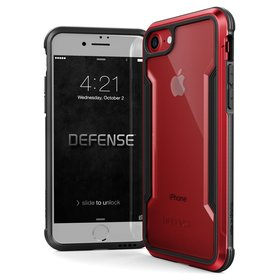 X-Doria Defense Shield Etui Aluminiowe do iPhone SE (2020) / iPhone 8 / iPhone 7 (Drop Test 3m) (Red)