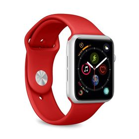 (EOL) Puro Icon Apple Watch Band Elastyczny Pasek Sportowy do Apple Watch 5 (44mm) / Apple Watch 4 (44mm) / Apple Watch 3 (42mm) / Apple Watch 2 (42mm) / Apple Watch 1 (42mm) (S/M & M/L) (Czerwony)