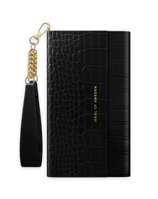 iDeal of Sweden Clutch Etui Portfel do iPhone SE (2020) / iPhone 8 / iPhone 7 / iPhone 6s / iPhone 6 (Jet Black Croco)