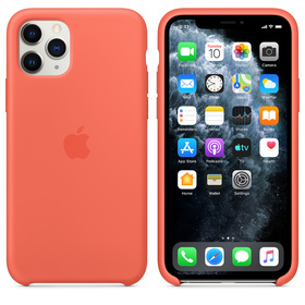 Apple Silicone Case MWYQ2ZM/A Etui Silikonowe do iPhone 11 Pro (Mandarynkowy)