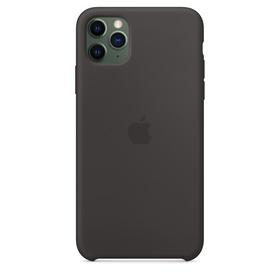 (EOL) Apple Silicone Case Oryginalne Silikonowe Etui do iPhone 11 Pro Max (Czarny)