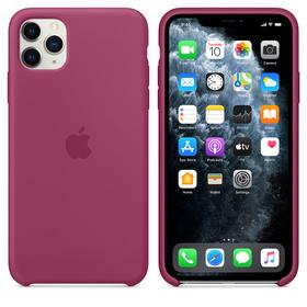 Apple Silicone Case Oryginalne Silikonowe Etui do iPhone 11 Pro Max (Krwisty Róż)