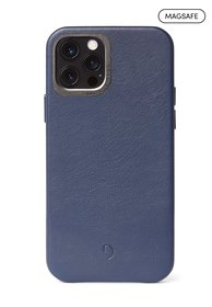 Decoded Back Cover MagSafe Etui Skórzane do iPhone 12 Pro / iPhone 12 (Navy)