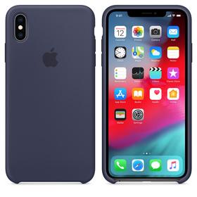 Apple Silicone Case Oryginalne Silikonowe Etui do iPhone Xs Max (Nocny Błękit)
