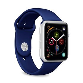 (EOL) Puro Icon Apple Watch Band Elastyczny Pasek Sportowy do Apple Watch 5 (44mm) / Apple Watch 4 (44mm) / Apple Watch 3 (42mm) / Apple Watch 2 (42mm) / Apple Watch 1 (42mm) (S/M & M/L) (Granatowy)