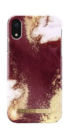 iDeal of Sweden Fashion Case Etui Obudowa do iPhone Xr (Golden Burgundy Marble)