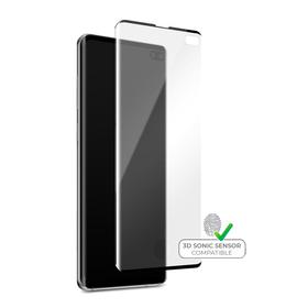 Puro Premium Full Edge Case Friendly Szkło Hartowane 9H Na Cały Ekran do Samsung Galaxy S10+ Plus (Czarna Ramka)
