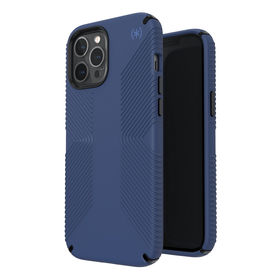 Speck Presidio2 Grip Etui Ochronne do iPhone 12 Pro Max z Powłoką Microban (Coastal Blue/Black/Storm Blue)