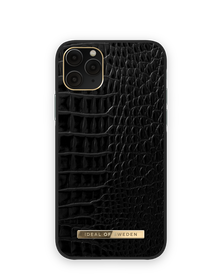 iDeal of Sweden Atelier Etui Obudowa do iPhone 11 Pro / iPhone Xs / iPhone X (Neo Noir Croco)