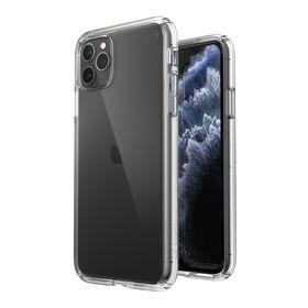 Speck Presidio Perfect-Clear Etui Ochronne do iPhone 11 Pro Max z Powłoką Microban (Obsidian/Obsidian)