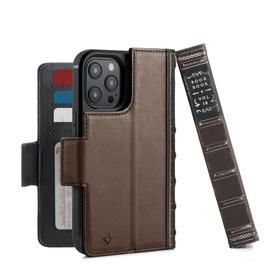 Twelve South BookBook Etui Skórzane z Klapką do iPhone 12 Pro / iPhone 12 Kompatybilne z MagSafe (Brown)