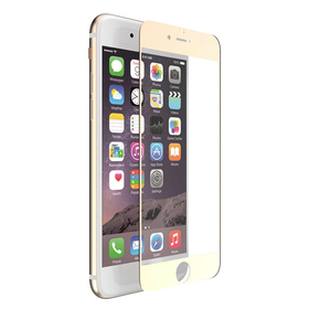 X-Doria Aster Szkło Hartowane 9H Na Cały Ekran iPhone 8 Plus / 7 Plus (Złota Ramka)