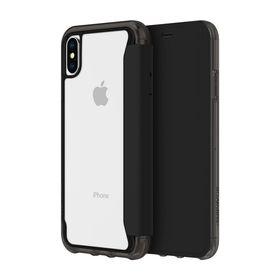 (EOL) Griffin Survivor Clear Wallet Etui z Klapką do iPhone Xs / iPhone X (Black/Clear)