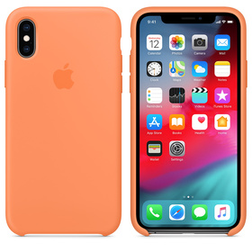 Apple Silicone Case Oryginalne Silikonowe Etui do iPhone Xs (Papaja)