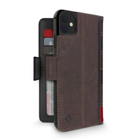 Twelve South BookBook Etui Skórzane z Klapką do iPhone 11 (Brown)