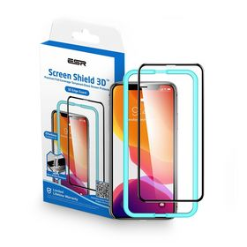 ESR Screen Shield 3D Szkło Hartowane na Cały Ekran do iPhone 11 Pro / iPhone Xs / iPhone X (Black)