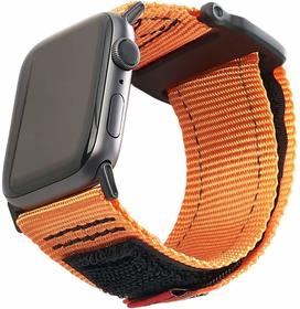 Urban Armor Gear Active Strap Materiałowy Pasek do Apple Watch 5 (44mm) / Apple Watch 4 (44mm) / Apple Watch 3 (42mm) / Apple Watch 2 (42mm) / Apple Watch 1 (42mm) (Orange)