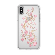 SPECK PRESIDIO CLEAR WITH PRINT - ETUI POKROWIEC - IPHONE X (GOLDENBLOSSOMS PINK / CLEAR)