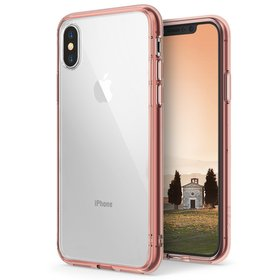 (EOL) Ringke Fusion Etui Obudowa do iPhone Xs / X (Rose Gold Crystal)