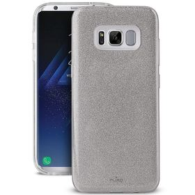 Puro Glitter Shine Cover Etui Brokatowe do Samsung Galaxy S8+ Plus (Silver)