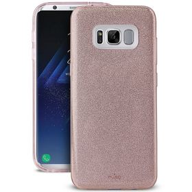 Puro Glitter Shine Cover Etui Brokatowe do Samsung Galaxy S8+ Plus (Rose Gold)