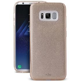Puro Glitter Shine Cover Etui Brokatowe do Samsung Galaxy S8+ Plus (Gold)