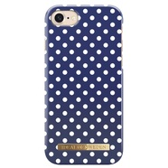 IDEAL FASHION CASE ETUI OBUDOWA IPHONE 8 / 7 / 6S / 6 (BLUE POLKA DOT)