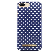 IDEAL FASHION CASE ETUI OBUDOWA IPHONE 8 PLUS / 7 PLUS / 6S PLUS / 6 PLUS (BLUE POLKA DOT)