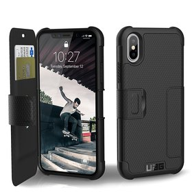 Urban Armor Gear UAG Metropolis Etui Pancerne z Klapką do iPhone Xs / X (Black)