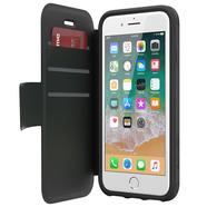 GRIFFIN SURVIVOR STRONG WALLET ETUI Z KIESZENIAMI NA KARTY IPHONE 8 PLUS / 7 PLUS / 6S PLUS / 6 PLUS (CZARNY/SZARY)