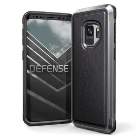 X-Doria Defense Lux Etui Aluminiowe do Samsung Galaxy S9 (Black Leather)