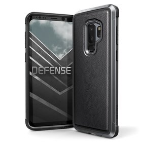 X-Doria Defense Lux Etui Aluminiowe Samsung Galaxy S9+ Plus (Black Leather)