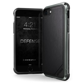 X-Doria Defense Lux Etui Aluminiowe do iPhone 8 / 7 (Black Leather)