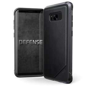 (EOL) X-Doria Defense Lux Etui Aluminiowe do Samsung Galaxy S8+ Plus (Black Leather)