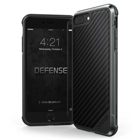 X-Doria Defense Lux Etui Aluminiowe do iPhone 8 Plus / 7 Plus (Black Carbon Fiber)