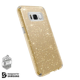 Speck Presidio Clear With Glitter Etui Obudowa Samsung Galaxy S8+ Plus (Gold Glitter/Clear)