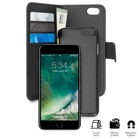 Puro Wallet Detachable Etui Portfel 2W1 do iPhone 8 / 7 / 6S / 6 (Czarny)