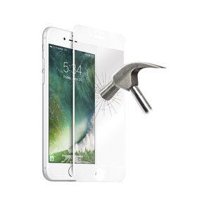 Puro Premium Full Edge Szkło Hartowane 9H Na Cały Ekran do iPhone 8 / 7 / 6S / 6 (Biała Ramka)