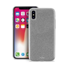 Puro Glitter Shine Cover Etui Brokatowe iPhone Xs / X (Silver)