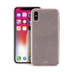 Puro Glitter Shine Cover Etui Brokatowe do iPhone Xs / X (Rose Gold)