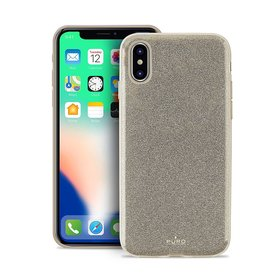 Puro Glitter Shine Cover Etui Brokatowe iPhone Xs / X (Gold)