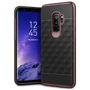CASEOLOGY PARALLAX CASE ETUI OBUDOWA SAMSUNG GALAXY S9+ PLUS (BLACK/BURGUNDY)