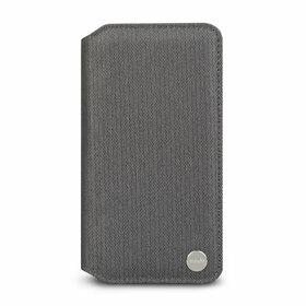 Moshi Overture Etui z Kieszenią Na Karty do iPhone Xr (Herringbone Gray)