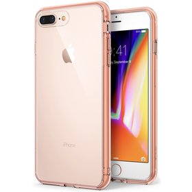(EOL) Ringke Fusion Etui Obudowa do iPhone 8 Plus / 7 Plus (Rose Gold Crystal)