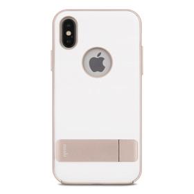 Moshi Kameleon Etui z Podstawką do iPhone Xs / X (Ivory White)