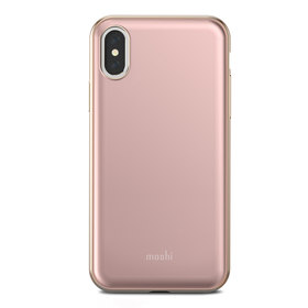 Moshi iGlaze Etui Obudowa do iPhone Xs / X (Taupe Pink)